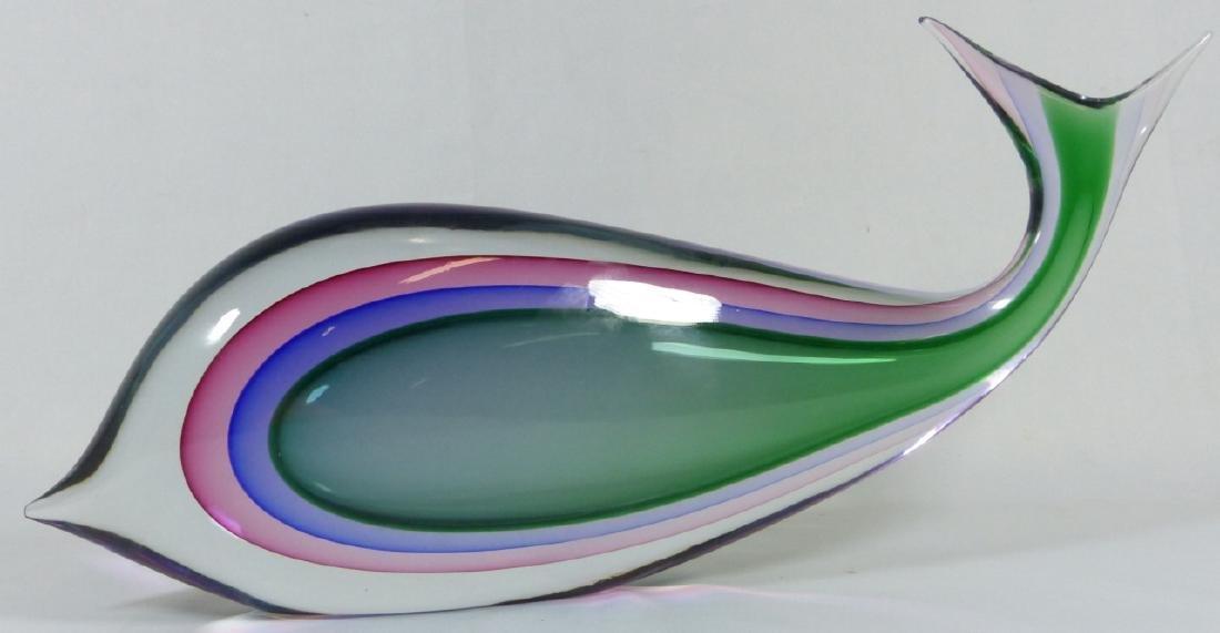 LUIGI ONESTO MURANO SOMMERSO ART GLASS FISH - 3