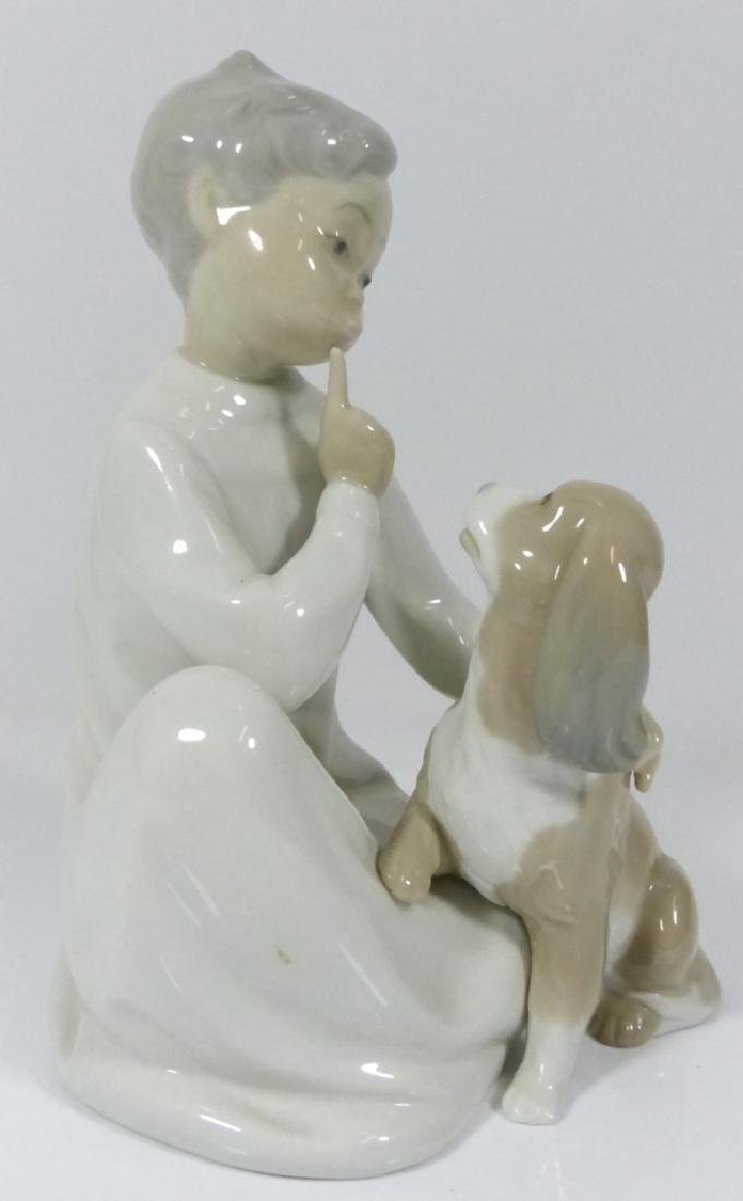 LLADRO 'BOY WITH DOG' PORCELAIN FIGURE #4522 - 2