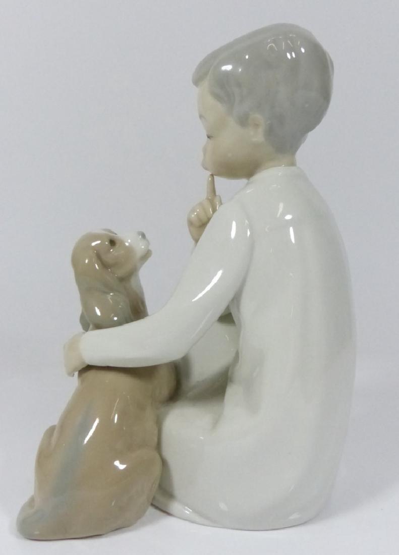 LLADRO 'BOY WITH DOG' PORCELAIN FIGURE #4522 - 5