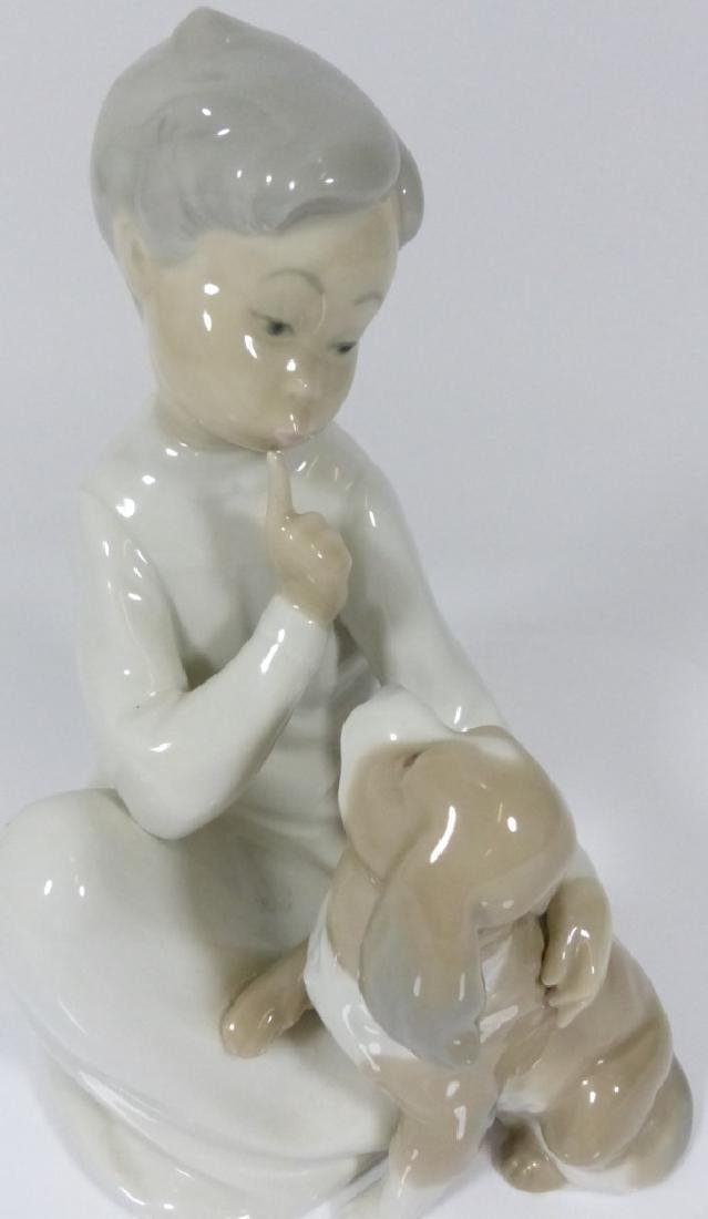 LLADRO 'BOY WITH DOG' PORCELAIN FIGURE #4522 - 7