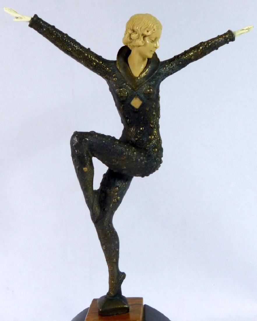 DEMETRE CHIPARUS BRONZE DANCER SCULPTURE - 2