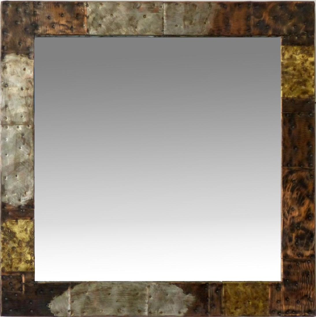 PAUL EVANS FOR DIRECTIONAL PATCHWORK MIRROR