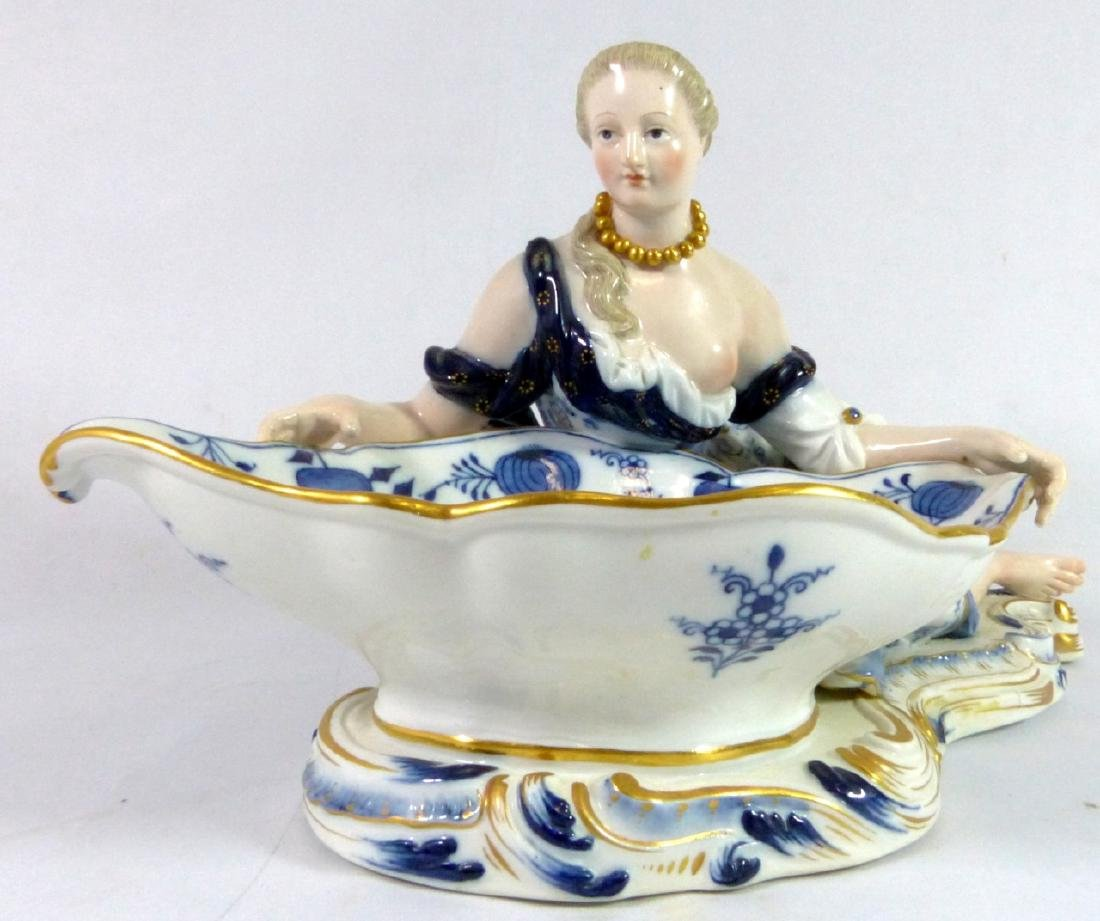 PR MEISSEN PORCELAIN FIGURAL SWEETMEAT DISHES - 2