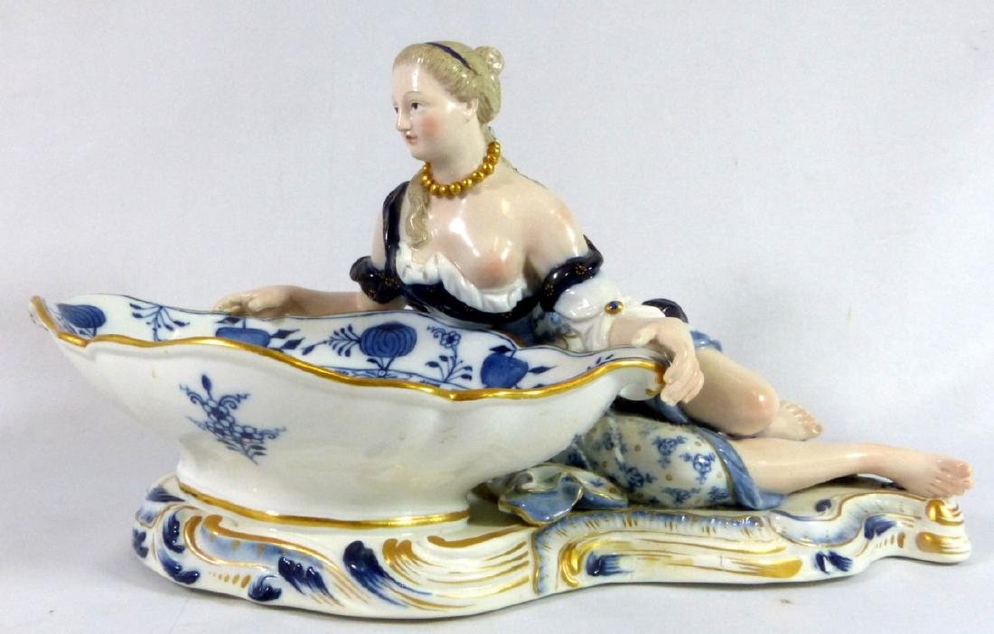 PR MEISSEN PORCELAIN FIGURAL SWEETMEAT DISHES - 3