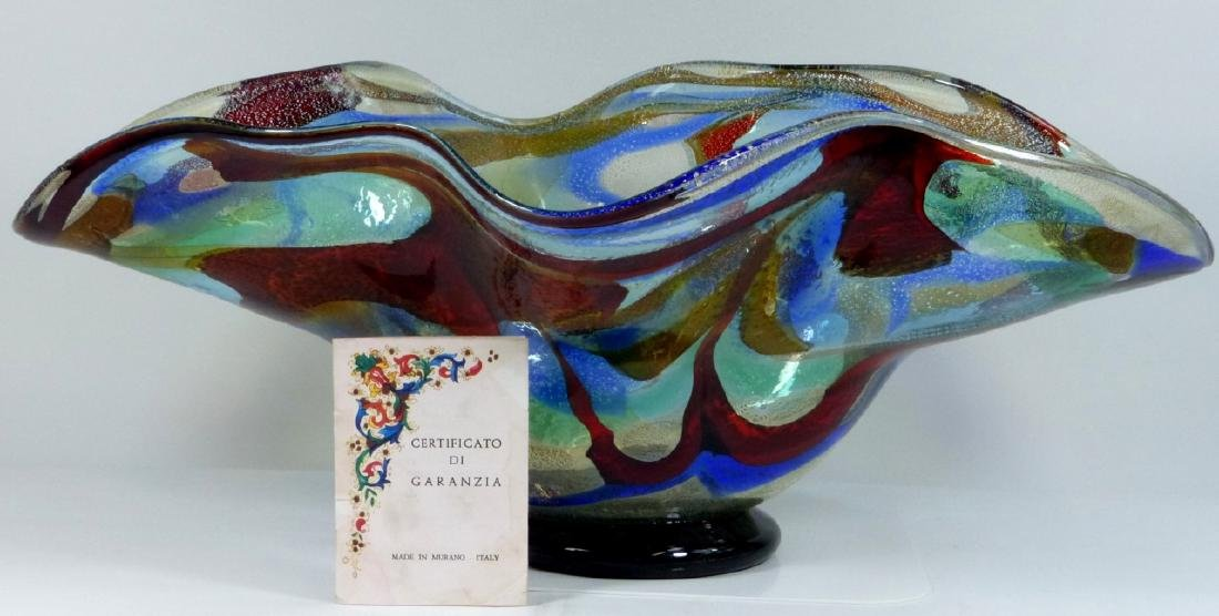 SERGIO COSTANTINI MURANO ART GLASS CENTER BOWL - 10