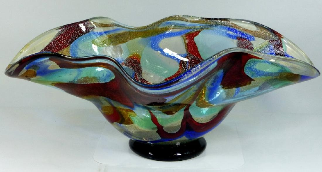 SERGIO COSTANTINI MURANO ART GLASS CENTER BOWL - 2
