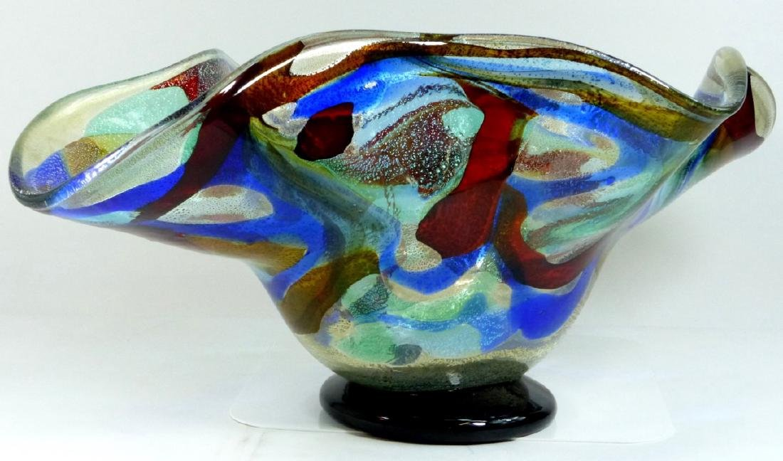 SERGIO COSTANTINI MURANO ART GLASS CENTER BOWL - 4