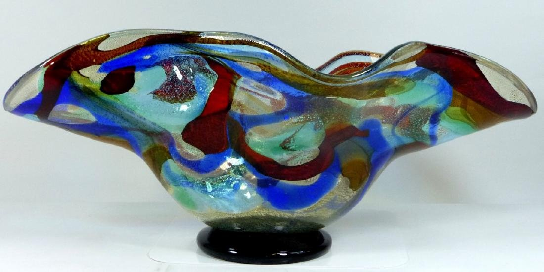 SERGIO COSTANTINI MURANO ART GLASS CENTER BOWL - 5