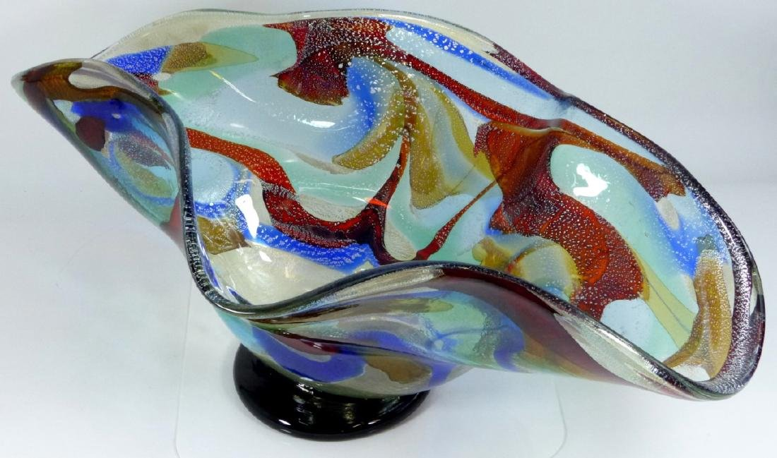 SERGIO COSTANTINI MURANO ART GLASS CENTER BOWL - 6