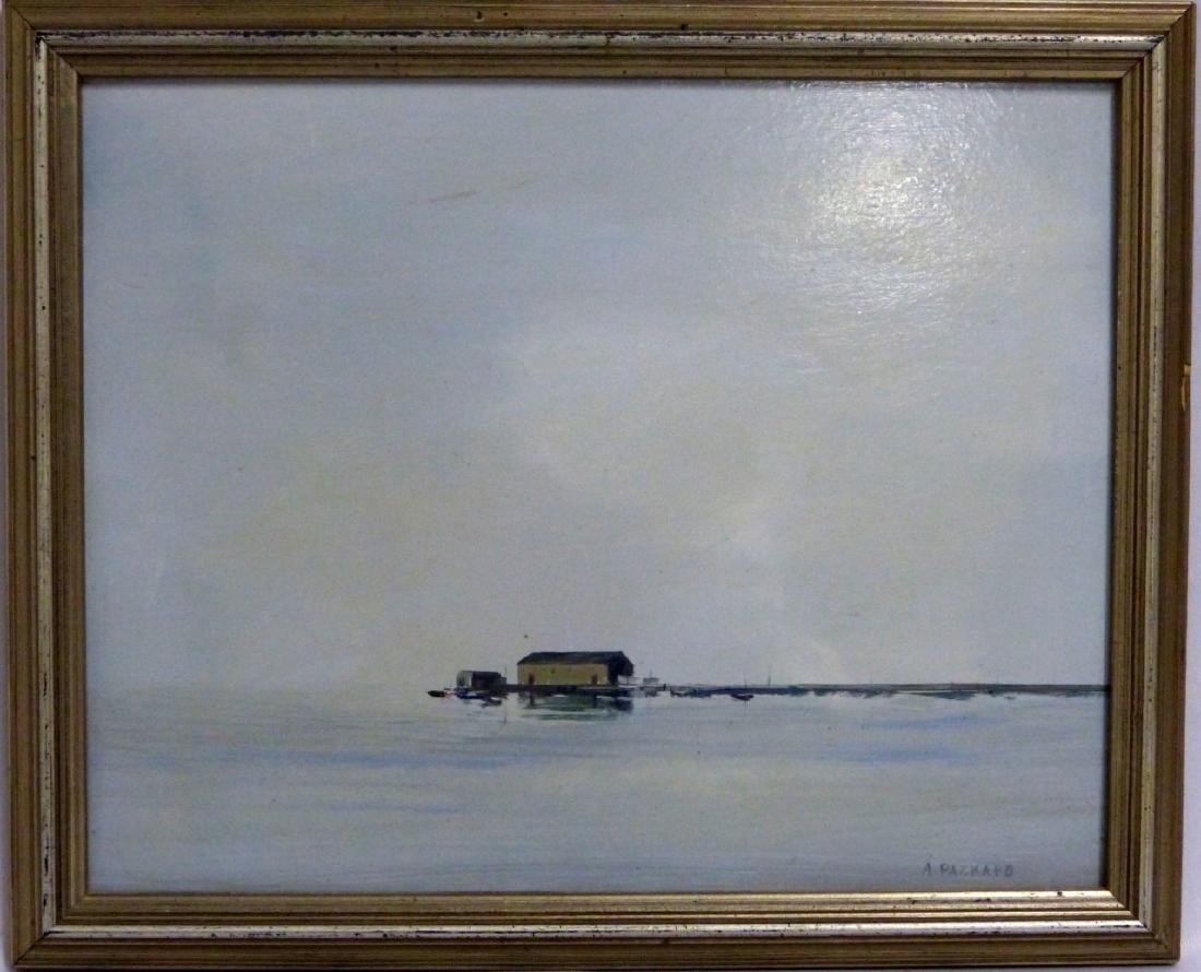 ANNE PACKARD OIL PAINTING ON BOARD 'PIER'