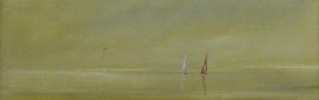 ANNE PACKARD OIL PAINTING ON BOARD 'SAILBOATS' - 2