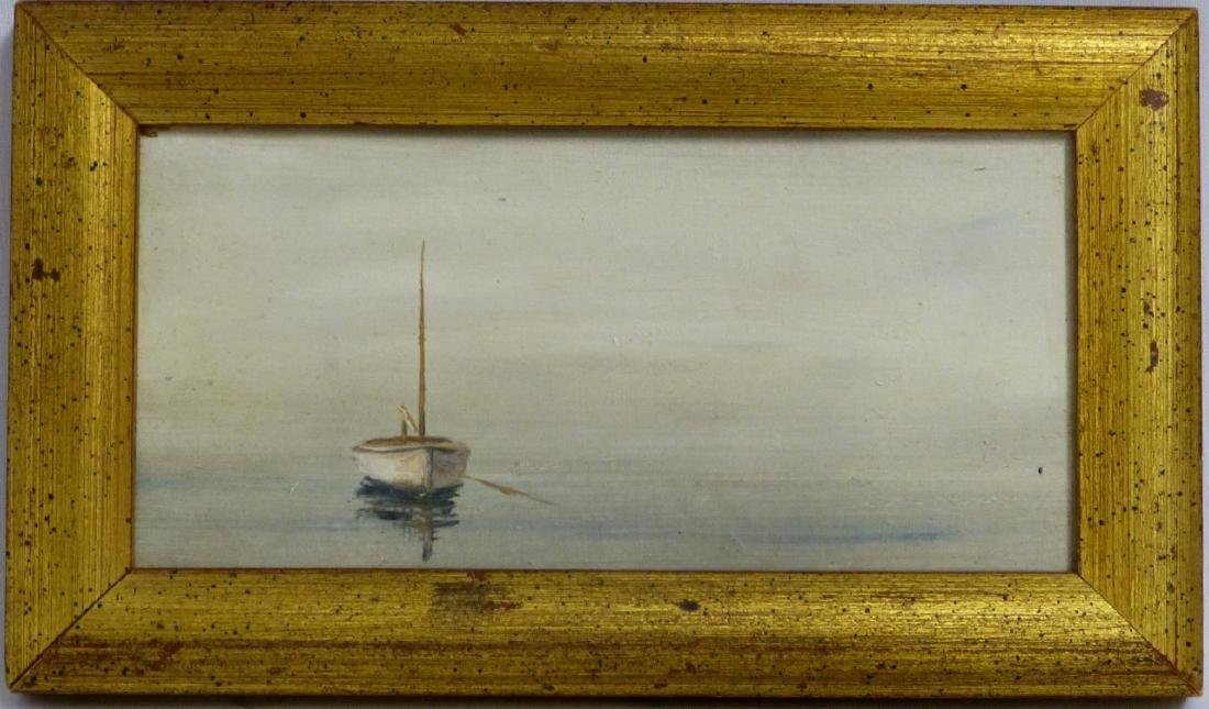ANNE PACKARD OIL PAINTING ON BOARD 'SAILBOAT'