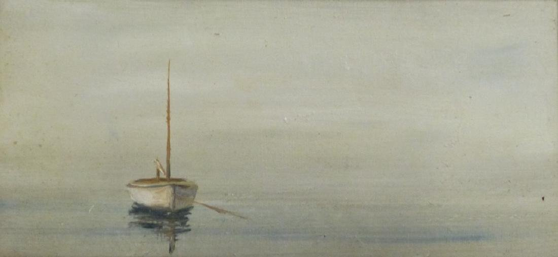 ANNE PACKARD OIL PAINTING ON BOARD 'SAILBOAT' - 2