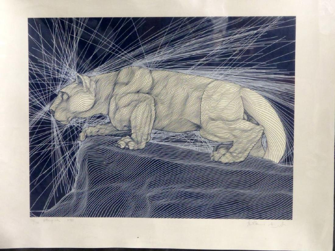GUILLAUME AZOULAY 'NITTANY LION' SILKSCREEN