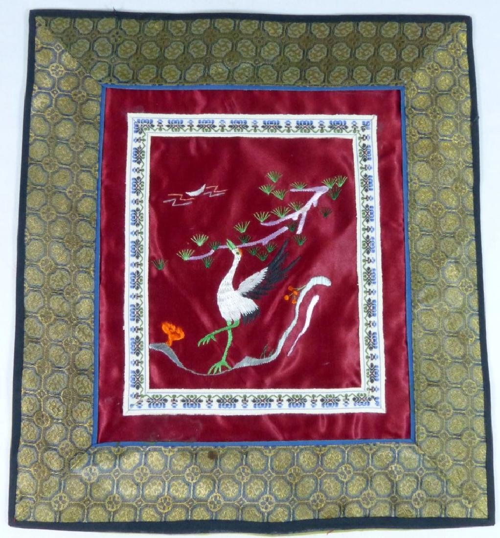 4pc CHINESE EMBROIDERED SILK PANELS
