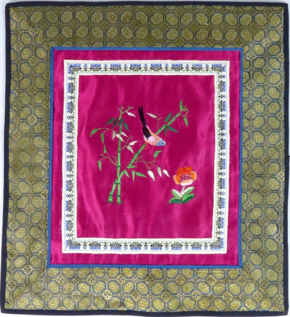 4pc CHINESE EMBROIDERED SILK PANELS - 2