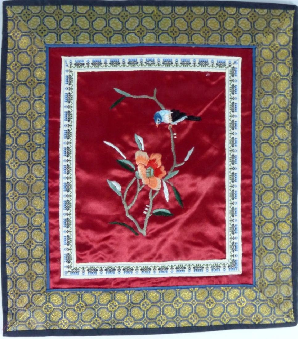 4pc CHINESE EMBROIDERED SILK PANELS - 3