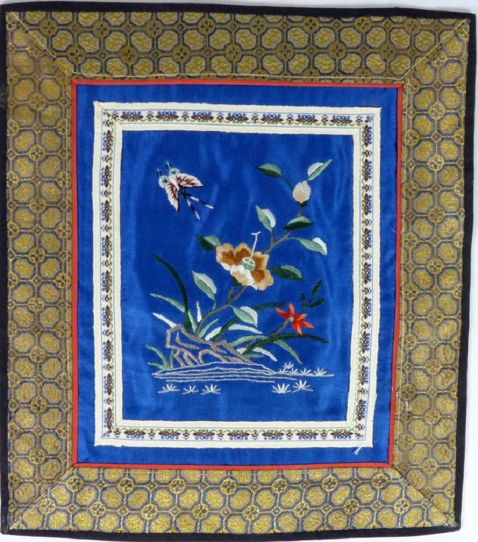 4pc CHINESE EMBROIDERED SILK PANELS - 4