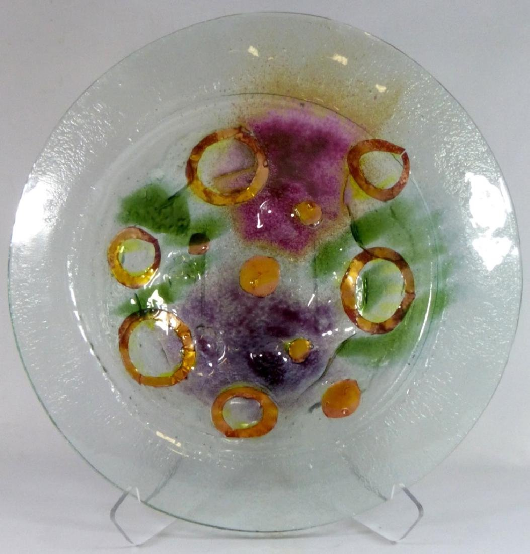 MODERN ART GLASS CHARGER / LARGE BOWL