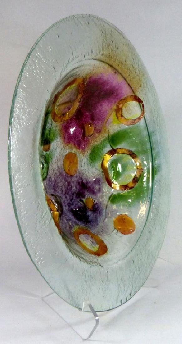 MODERN ART GLASS CHARGER / LARGE BOWL - 2
