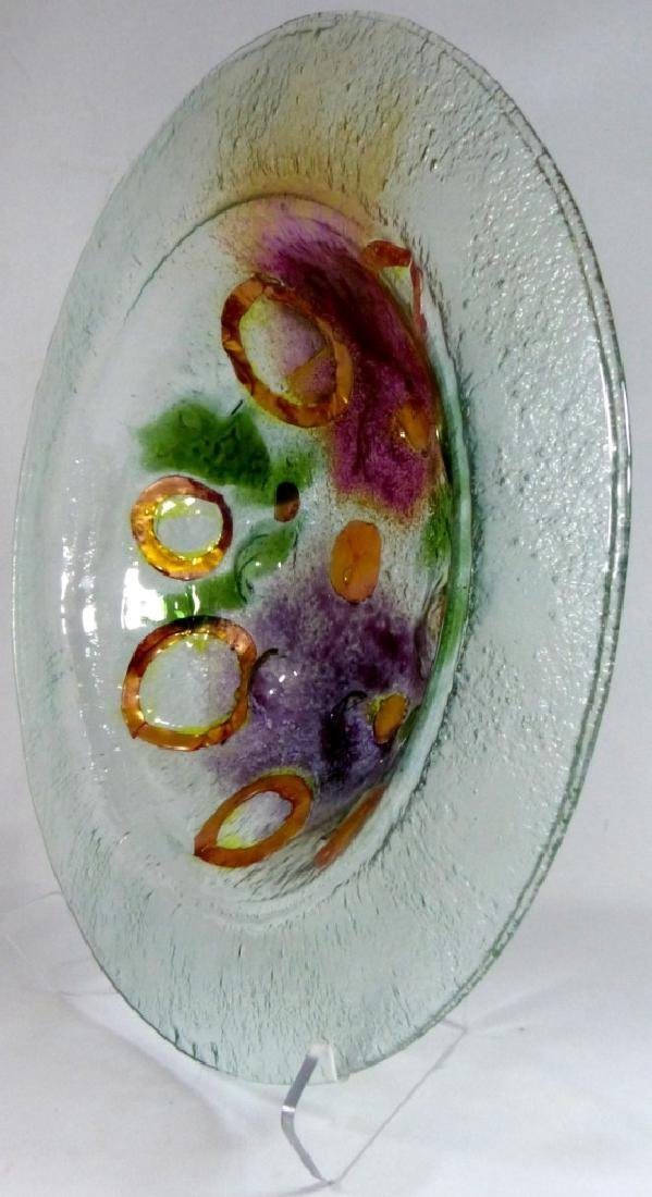 MODERN ART GLASS CHARGER / LARGE BOWL - 4
