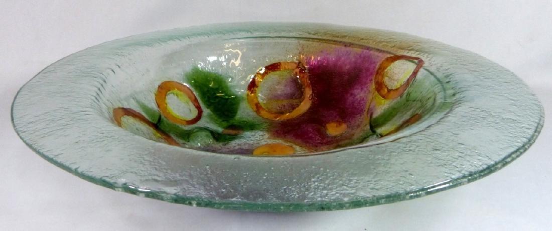 MODERN ART GLASS CHARGER / LARGE BOWL - 6