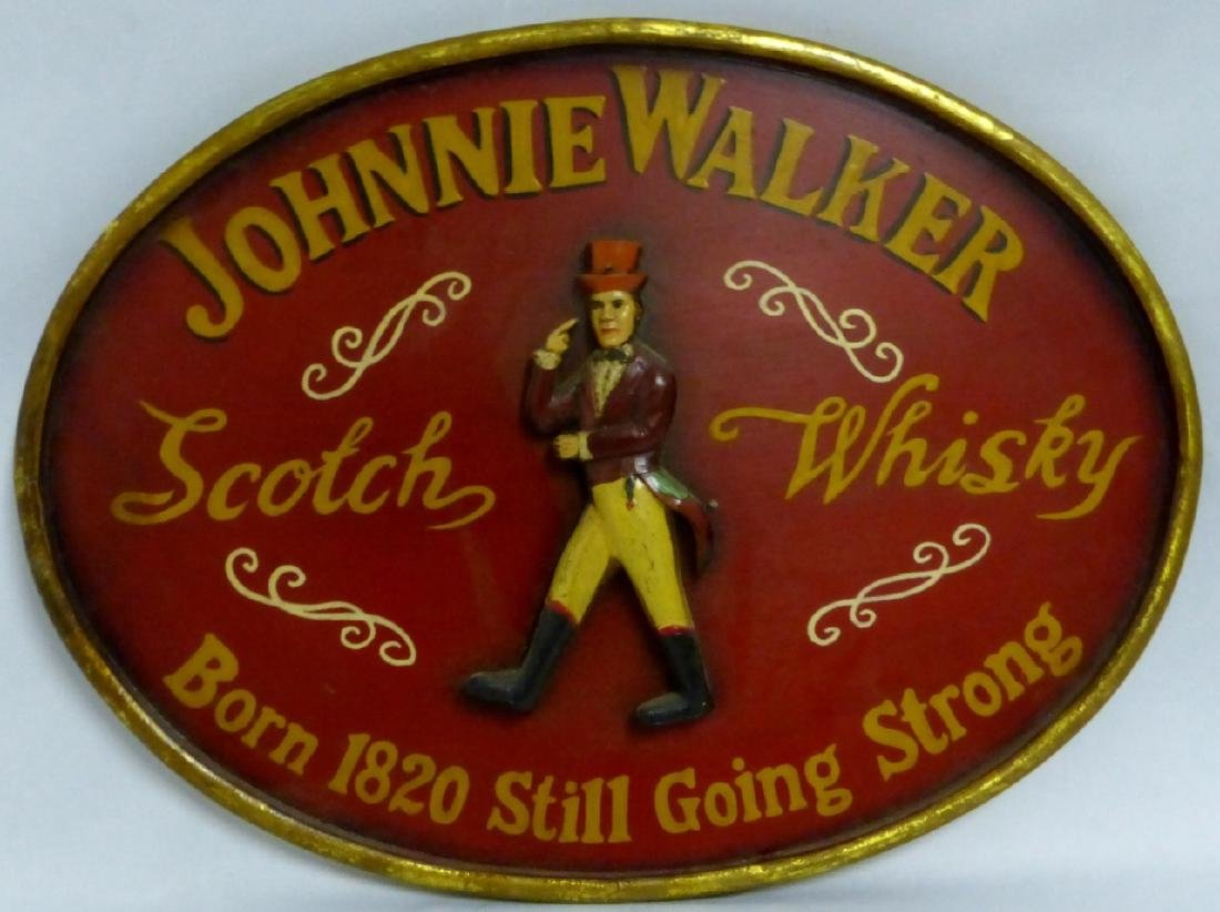 JOHNNIE WALKER SCOTCH WHISKY VINTAGE WOODEN SIGN