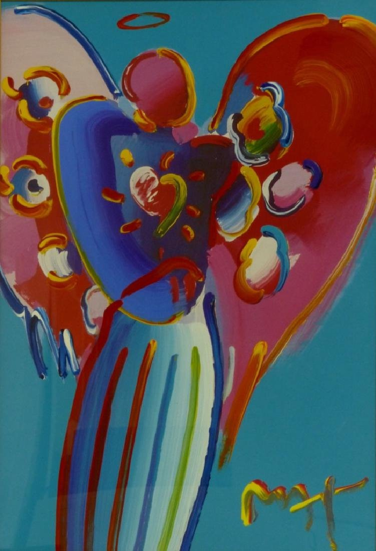 PETER MAX 'ANGEL WITH HEART' MIXED MEDIA PAINTING - 2