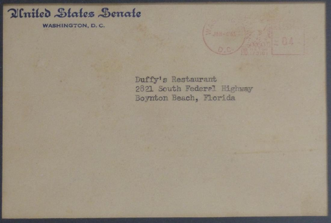 JOHN F KENNEDY SIGNED LETTER TO DUFFY'S 1961 - 4