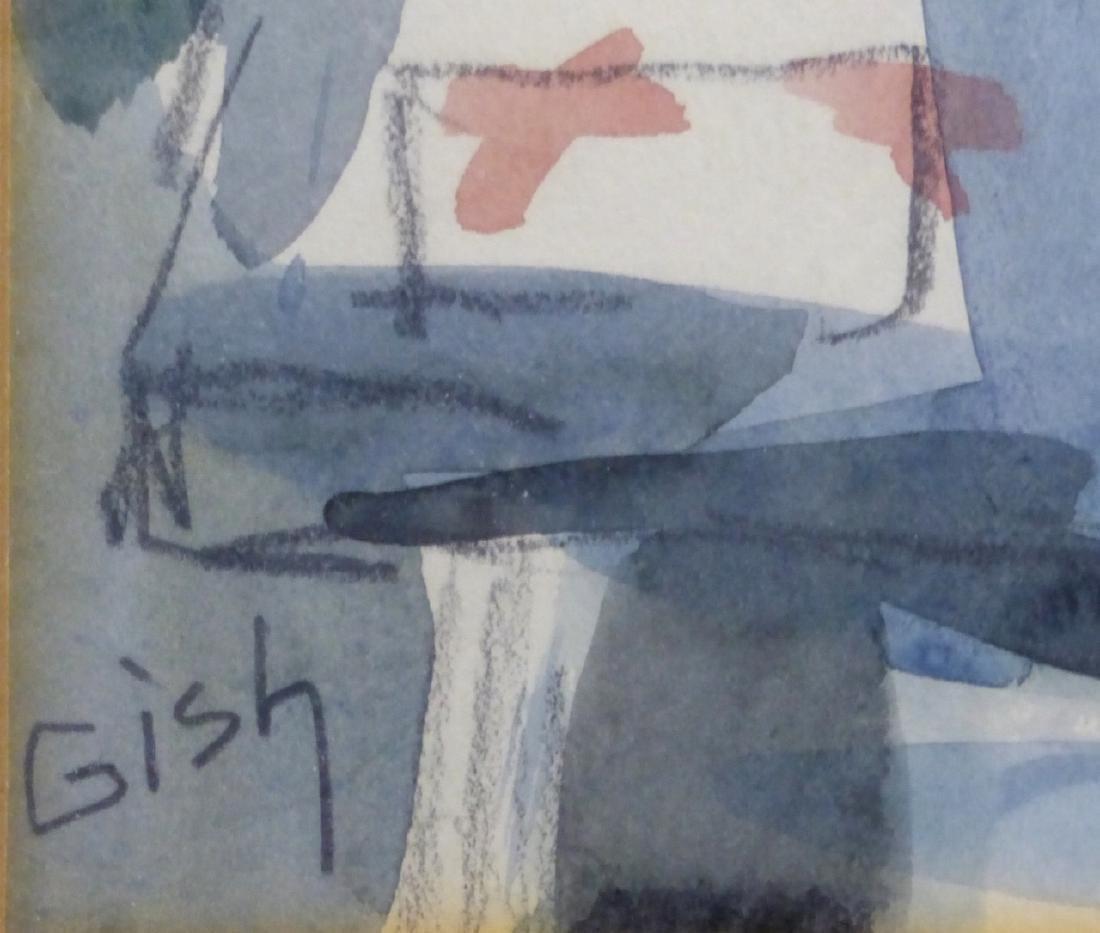 DELBERT GISH STILL LIFE WATERCOLOR ON PAPER - 3