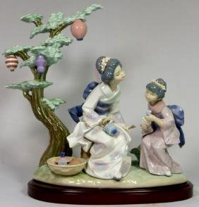 LLADRO 'MOTHER'S WAY' 5946 PORCELAIN FIGURE w BOX
