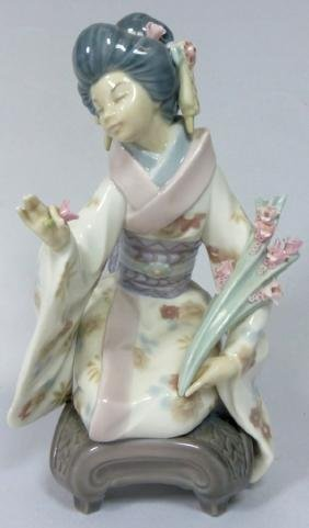 LLADRO 'KIYOKO' 1450 PORCELAIN FIGURINE w BOX