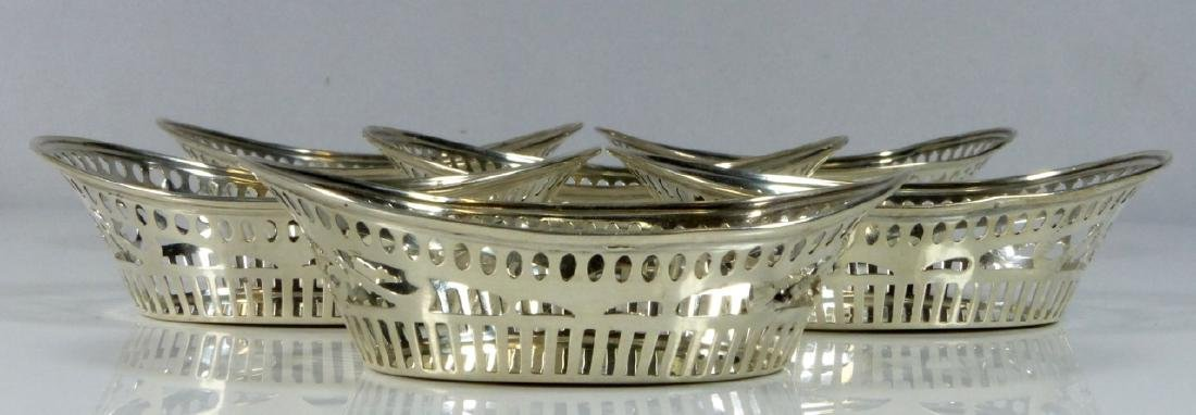 6pc WATSON STERLING SILVER RETICULATED NUT BASKETS - 4