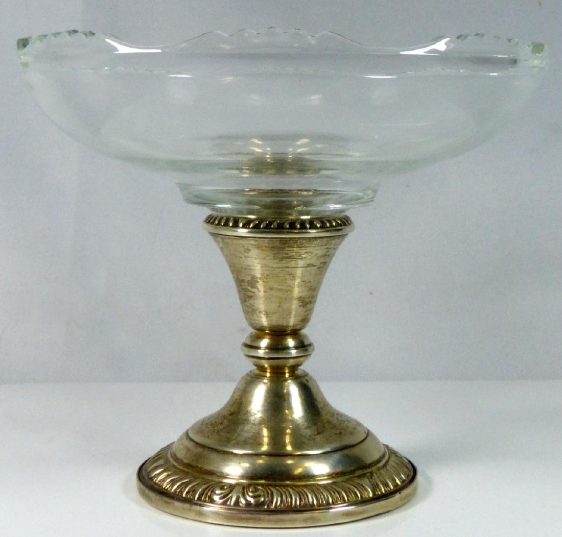 PR FRANK WHITING STERLING SILVER & GLASS COMPOTES - 3