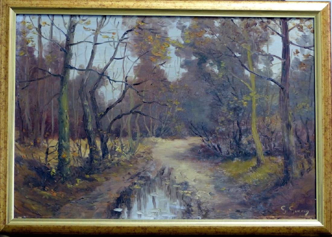 GABRIEL GUERIN OIL PAINTING ON BOARD OF LANDSCAPE