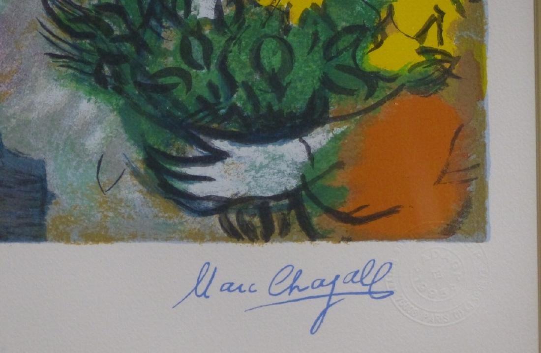 MARC CHAGALL 'L'OFFRANDE' FACSIMILE SERIGRAPH - 4