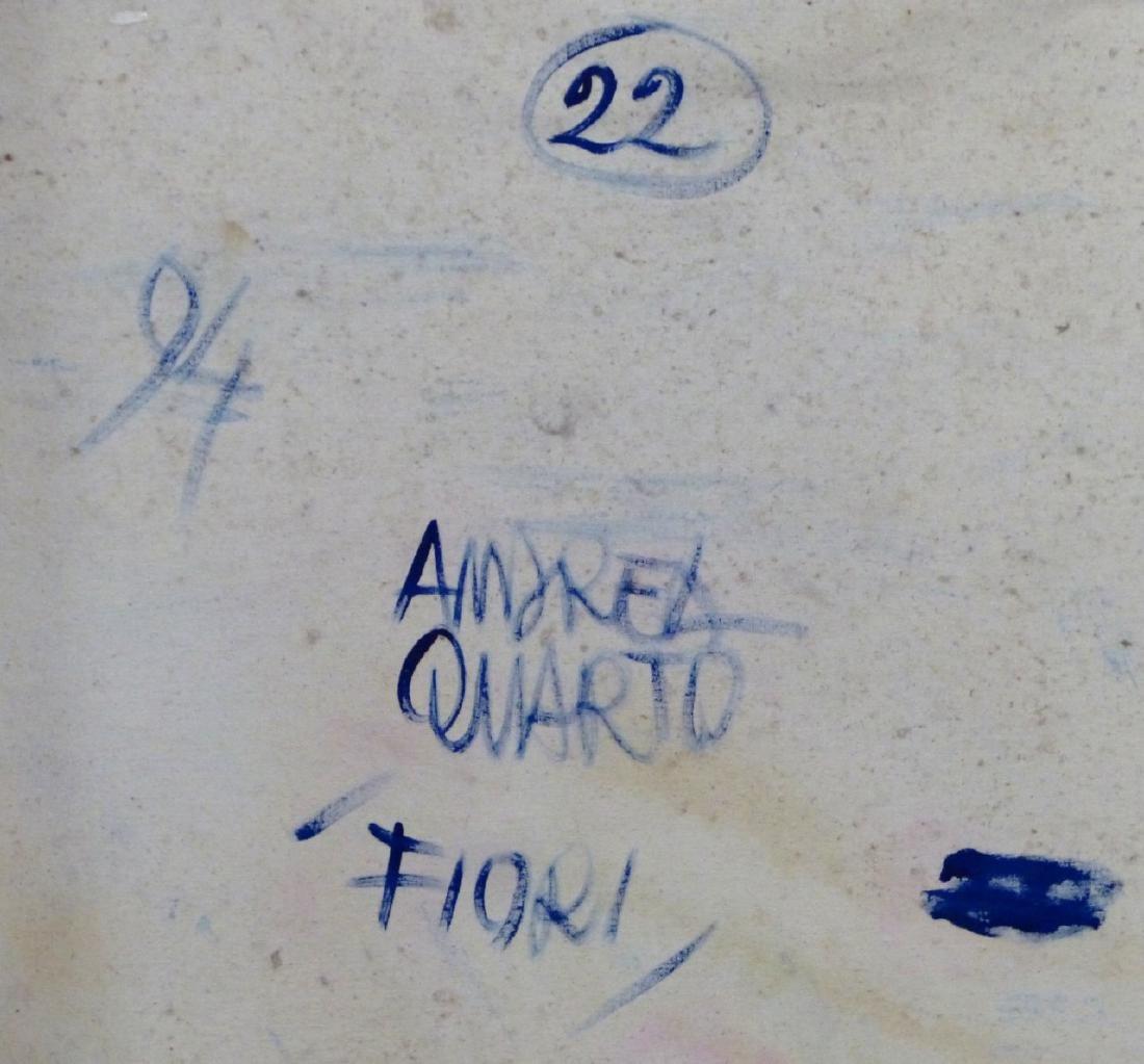 ANDREA QUARTO 'FIORI' OIL PAINTING ON CANVAS - 5