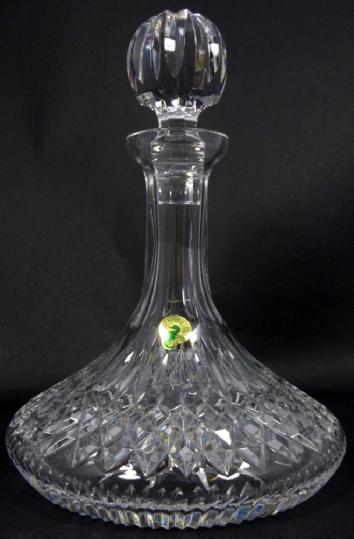 WATERFORD CUT CRYSTAL SHIPS DECANTER