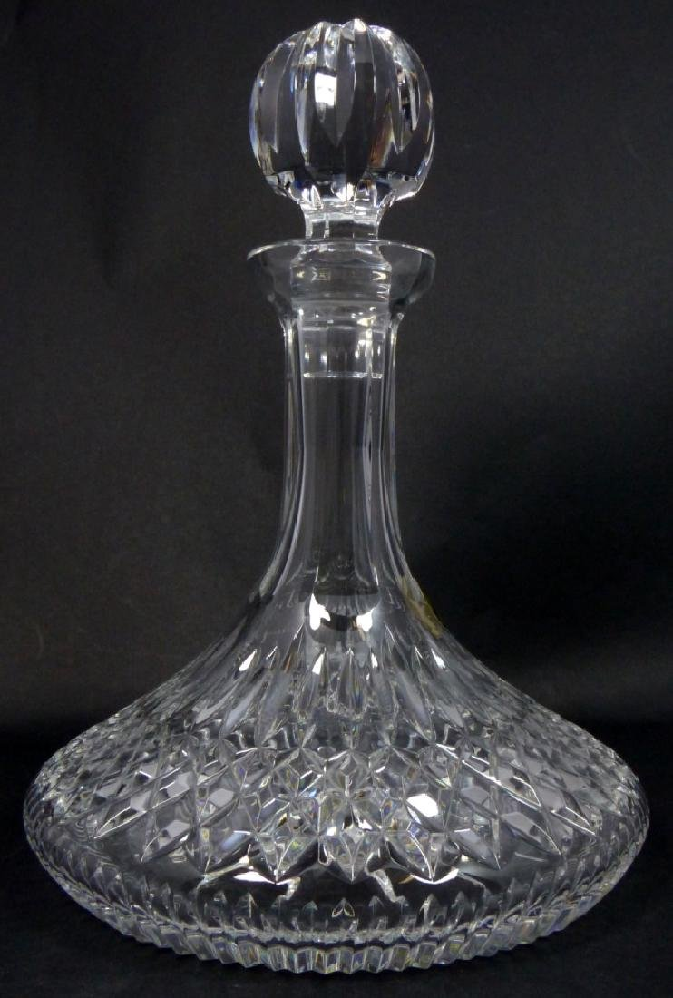 WATERFORD CUT CRYSTAL SHIPS DECANTER - 2