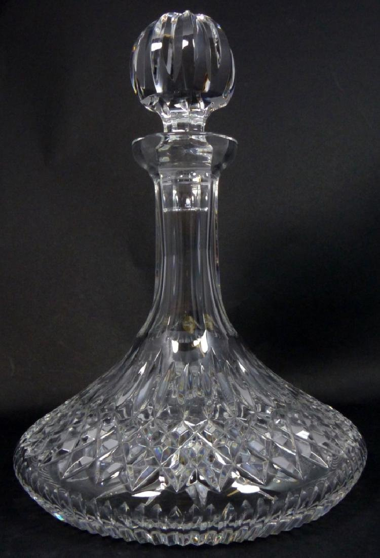 WATERFORD CUT CRYSTAL SHIPS DECANTER - 6