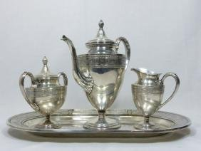 4pc INTERNATIONAL STERLING WEDGWOOD COFFEE SERVICE