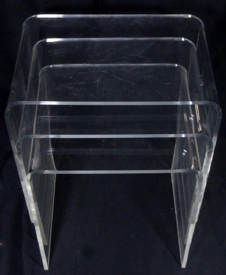 3pc LUCITE STACKING TABLES