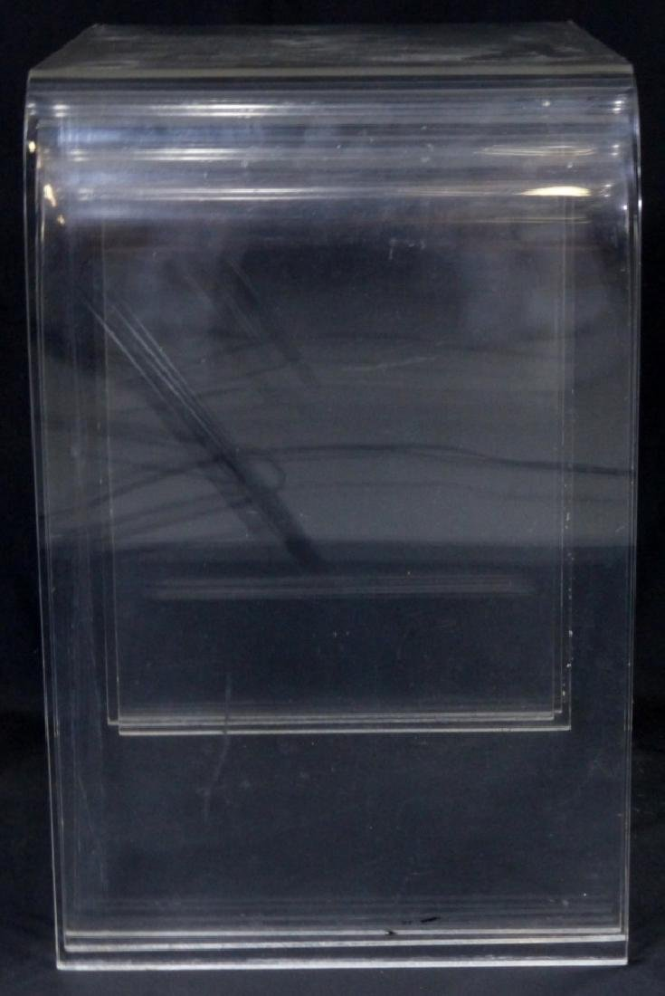 3pc LUCITE STACKING TABLES - 3