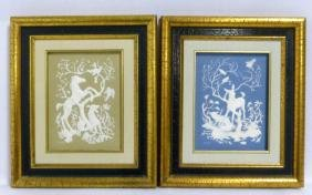 PR FRANKLIN PORCELAIN JASPERWARE 'SEASONS' PLAQUES