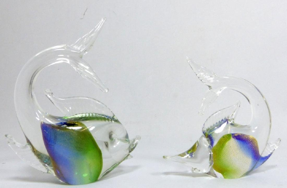 3pc MURANO STYLE ART GLASS FISH - 4