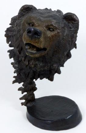 MARK HOPKINS 'BEARS DOMINION' BRONZE SCULPTURE
