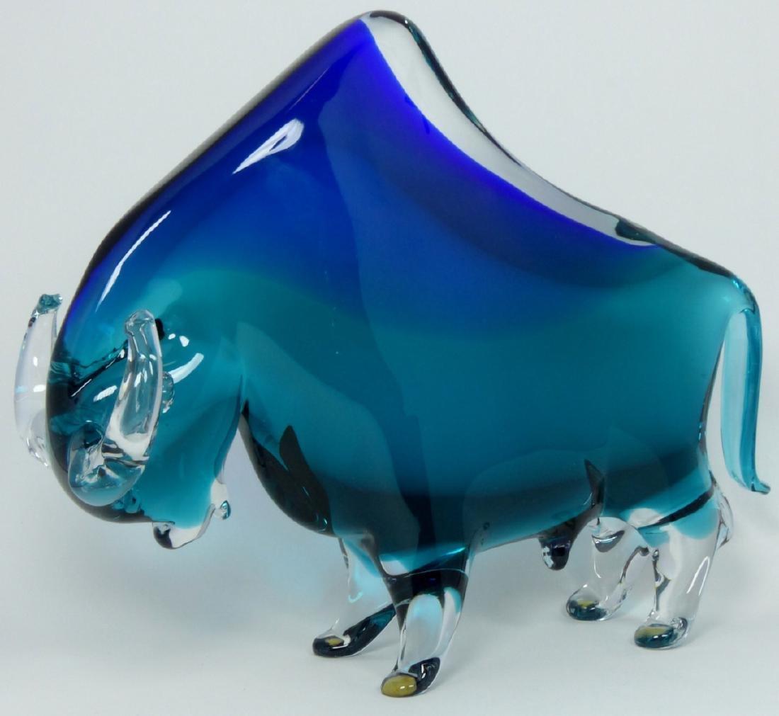 PR NASON MURANO BULL & BEAR GLASS SCULPTURES - 2