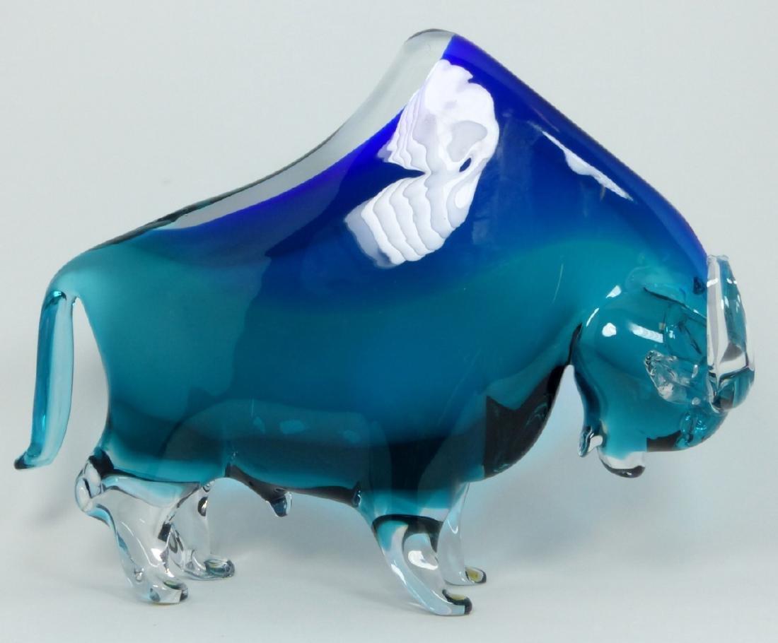PR NASON MURANO BULL & BEAR GLASS SCULPTURES - 4