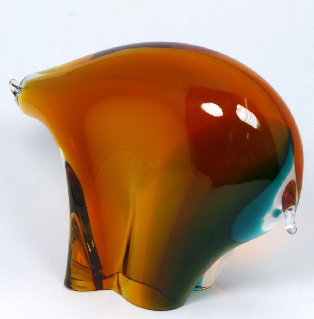 PR NASON MURANO BULL & BEAR GLASS SCULPTURES - 8