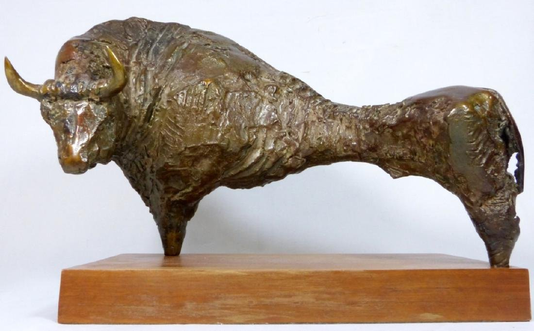 JUAN LUIS ANDREU 'THE BULL' BRONZE SCULPTURE